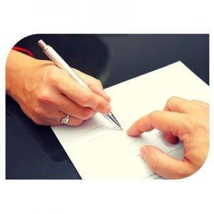 Signature de divorce par consentement mutuel